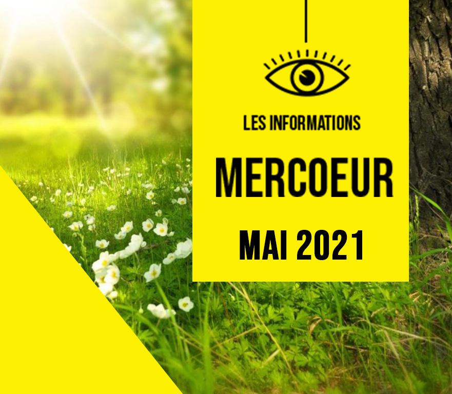 LETTRE D'INFORMATION MERCOEUR – MAI 2021
