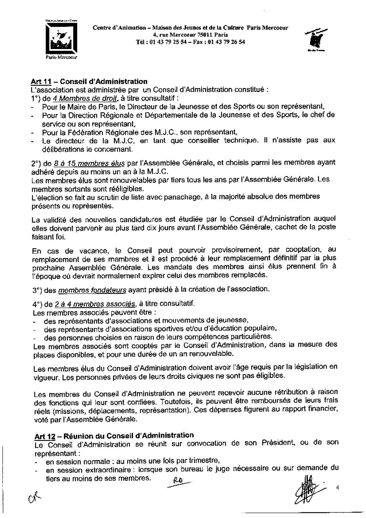 Statuts De L Association