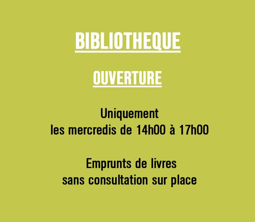 BIBLIOTHÈQUE : EMPRUNT ET DÉPÔT DE LIVRES