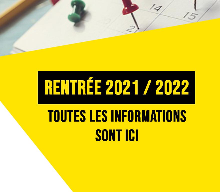 RENTRÉE SAISON 2021 / 2022 – DATES – AVOIRS ET CONTINUITÉ DES ACTIVITÉS – REMBOURSEMENT